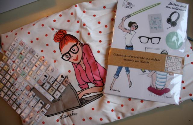 Les Goodies Geek : Pochette Ordi et stickers
