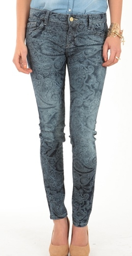 Pantalon Imprimé cachemire bleu